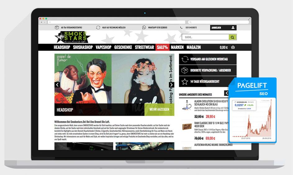 Shisha Onlineshop Webdesign
